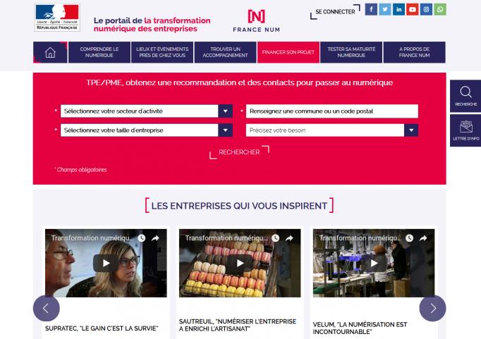 France Num : la boîte à outils pour accompagner la numérisation des TPE et PME